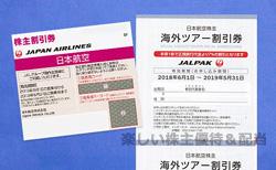 日本航空(JAL)の株主優待