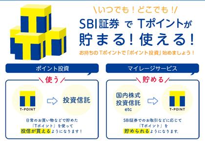 sbi証券のTポイント投資
