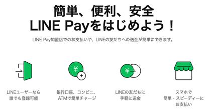 LINE証券はLINE Payを使って入出金できます